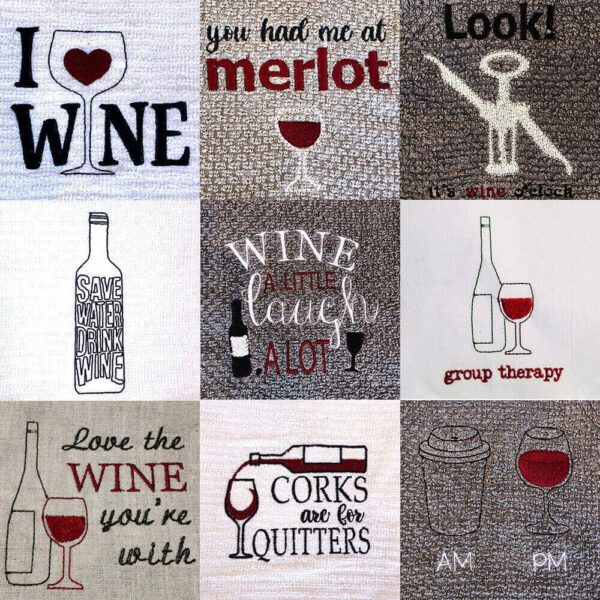 Wine Lovers Set of Machine Embroidery Designs