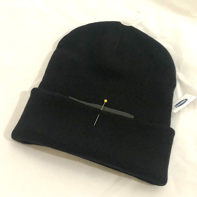 how to embroider a knit beanie