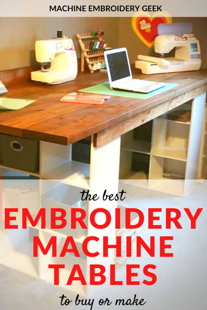 the best embroidery machine tables