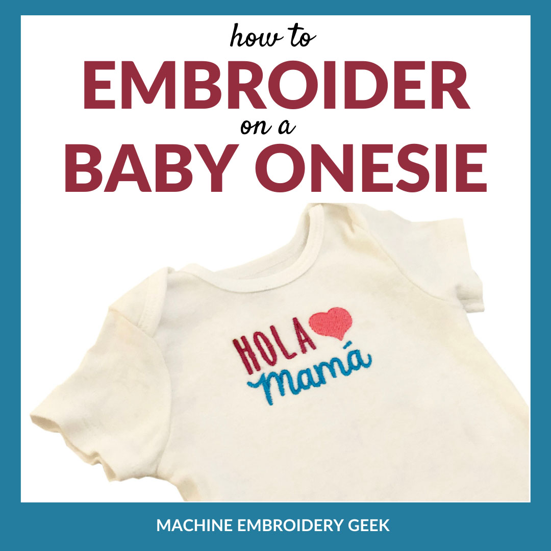 how to embroider on a baby onesie