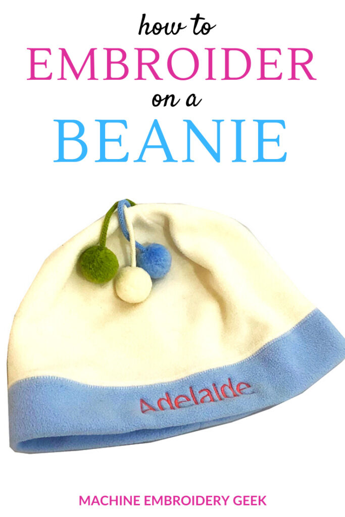 how to embroider on a beanie