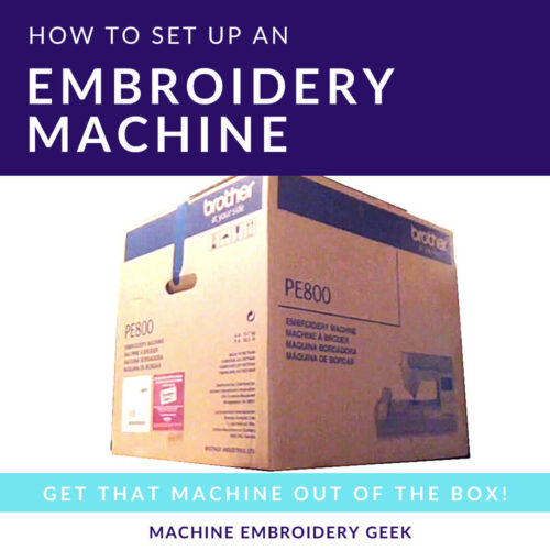 how to set up an embroidery machine
