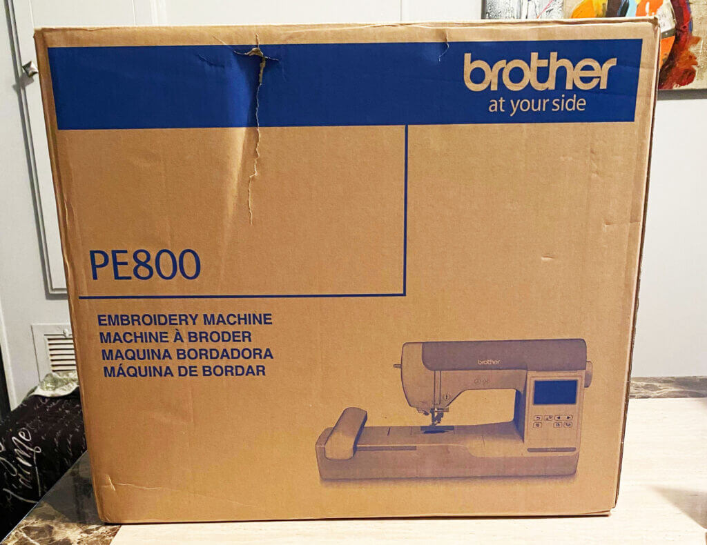 Brother PE800 in the box: how to set up an embroidery machine