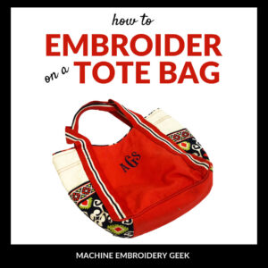 how to embroider a tote bag