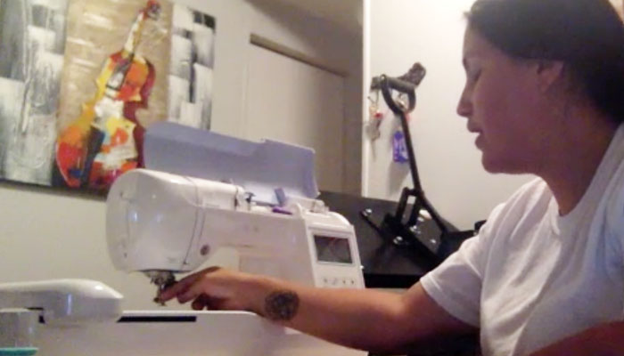 how to set up an embroidery machine: threading the machine