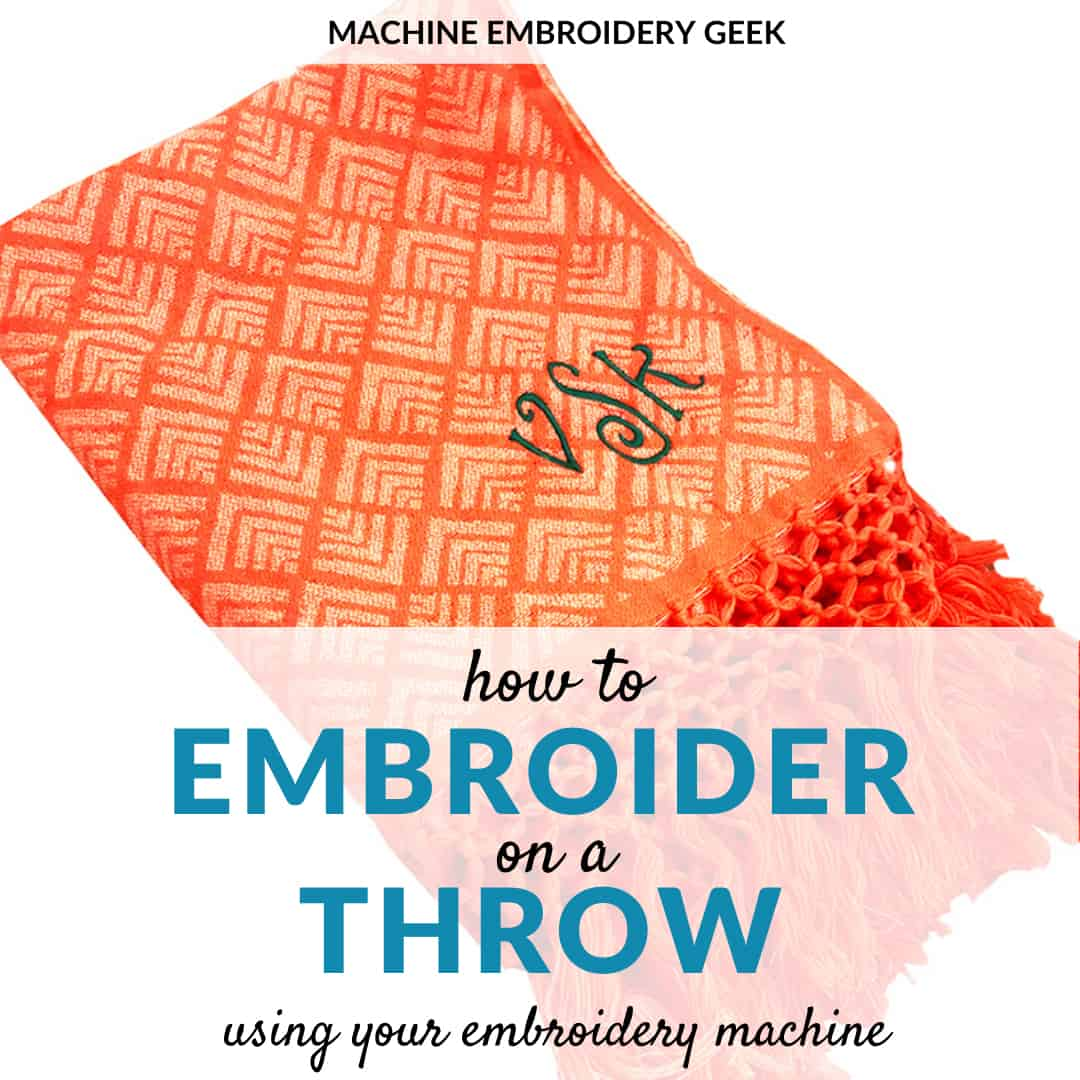 how to embroider on a throw