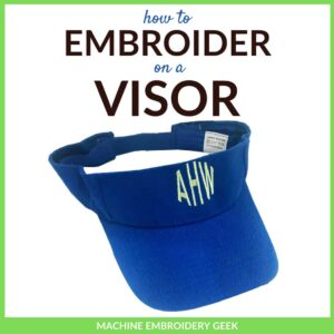how to embroider on a visor