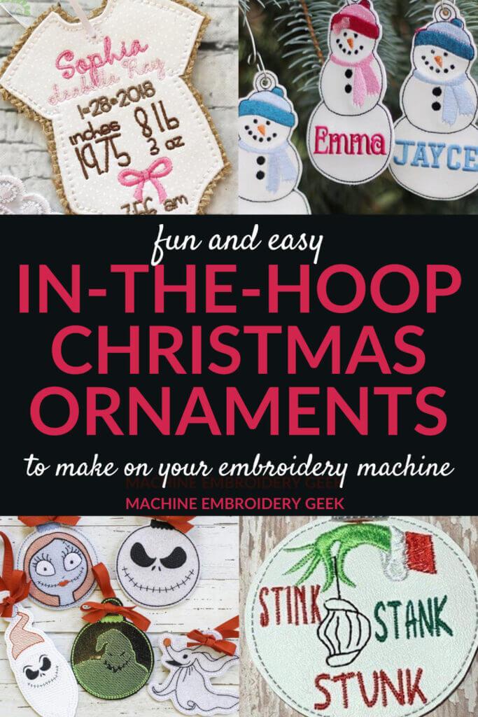 in-the-hoop Christmas ornaments