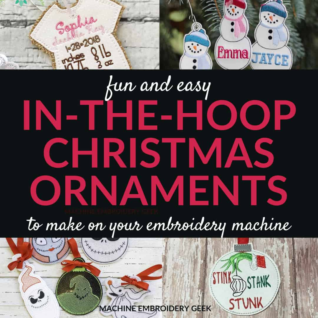 in-the-hoop Christmas ornaments