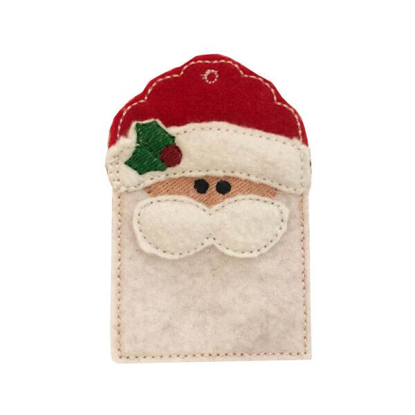 in-the-hoop Santa gift card holder