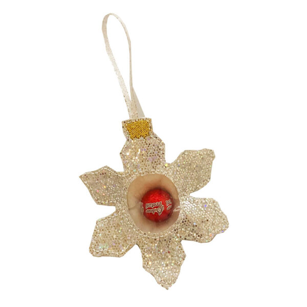 in-the-hoop snowflake ornament for candy