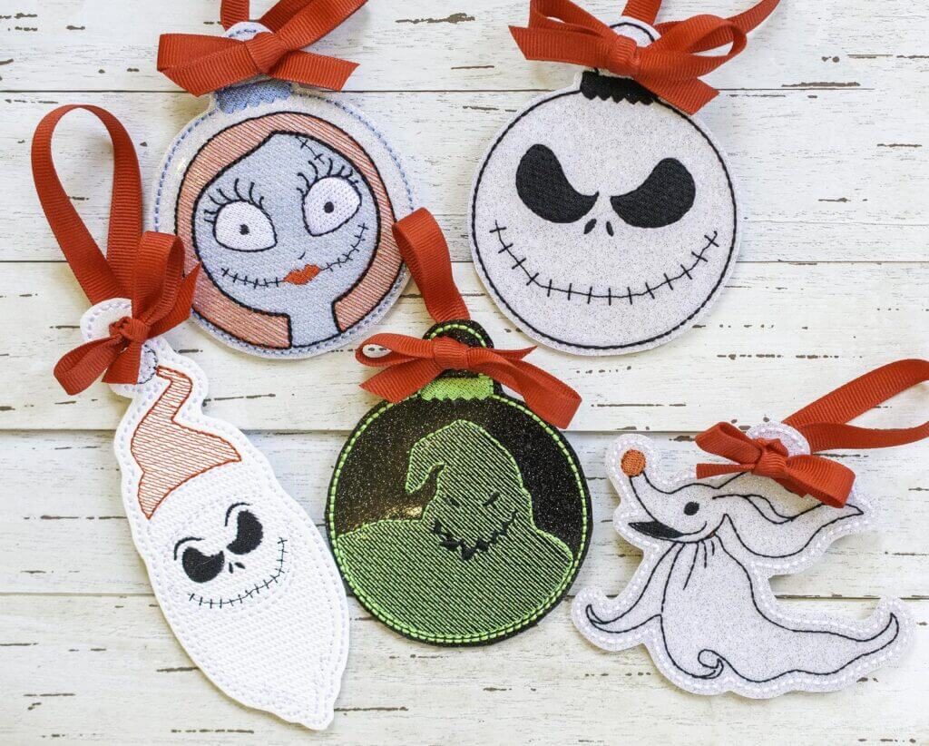 Nightmare before Christmas ITH ornament design