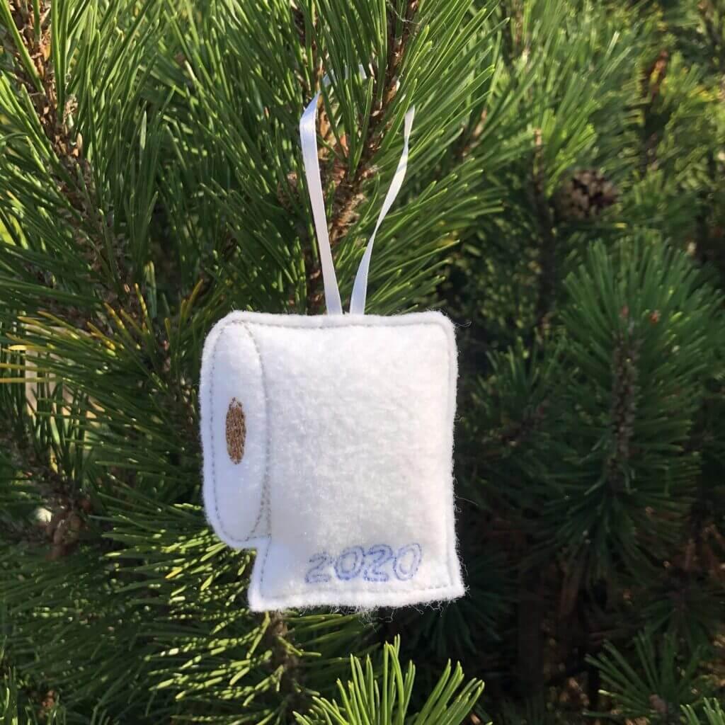 toilet paper in-the-hoop ornament