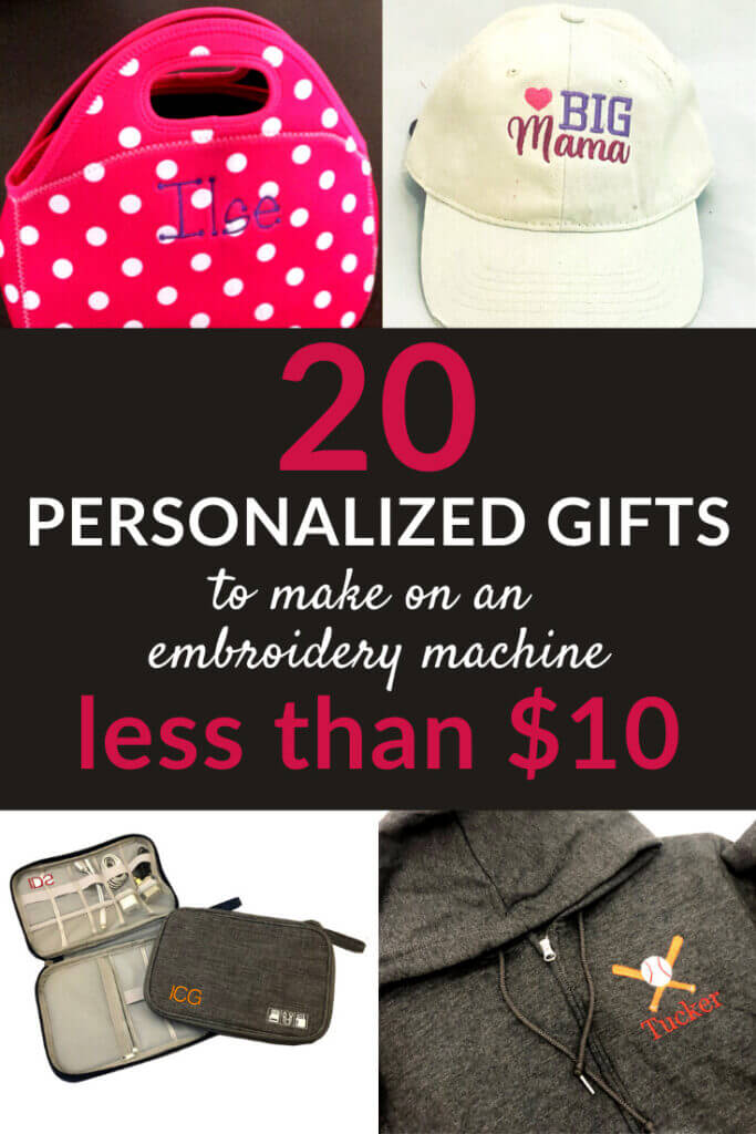 20 gifts to personalize on your embroidery machine for under $20