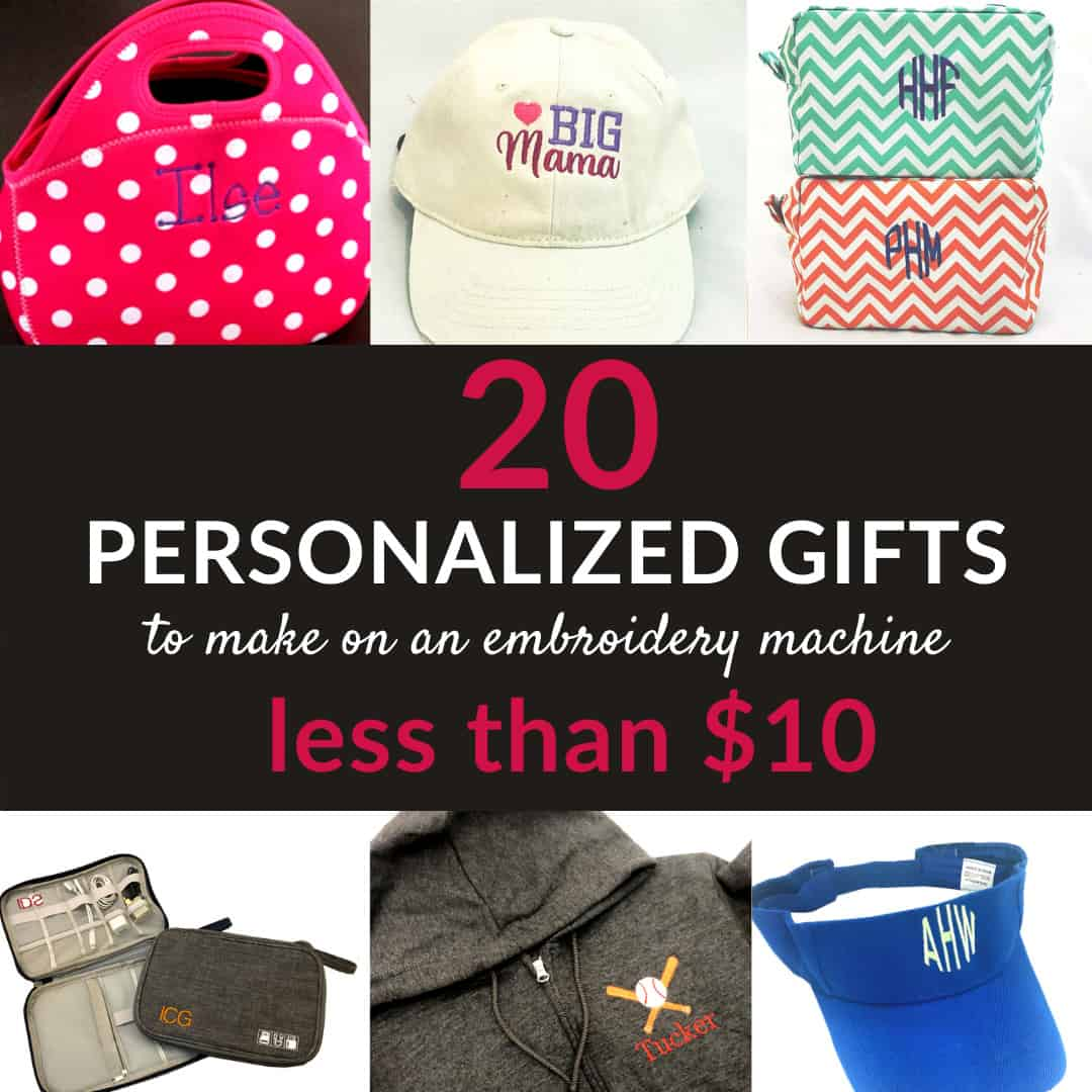 20 personalized gifts to make on your embroidery machine for under $10