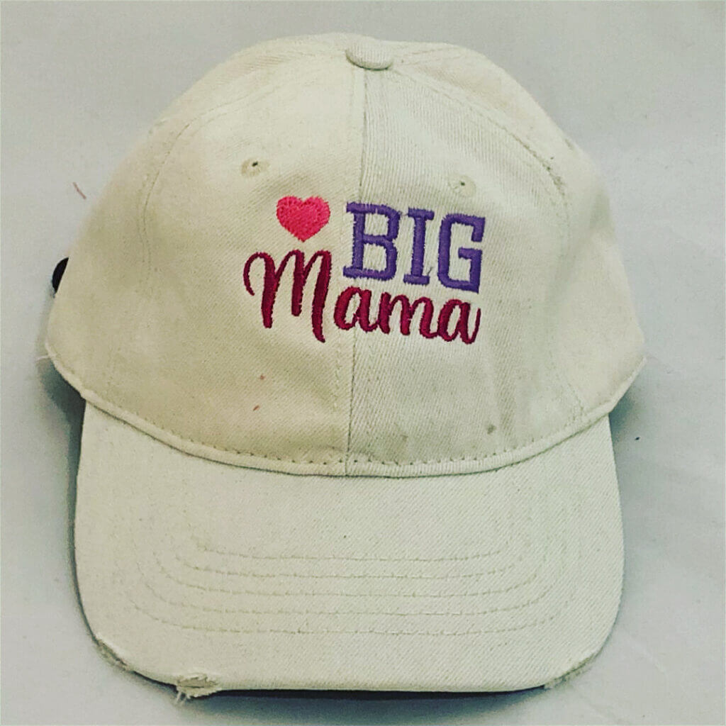 big mama embroidered baseball cap
