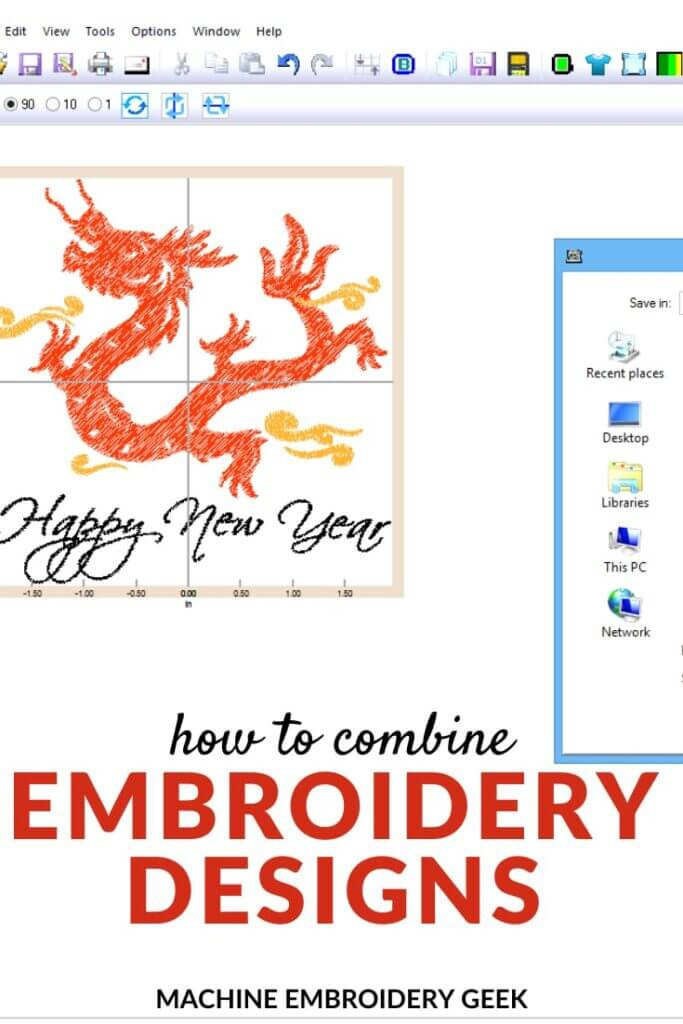how to combine embroidery designs