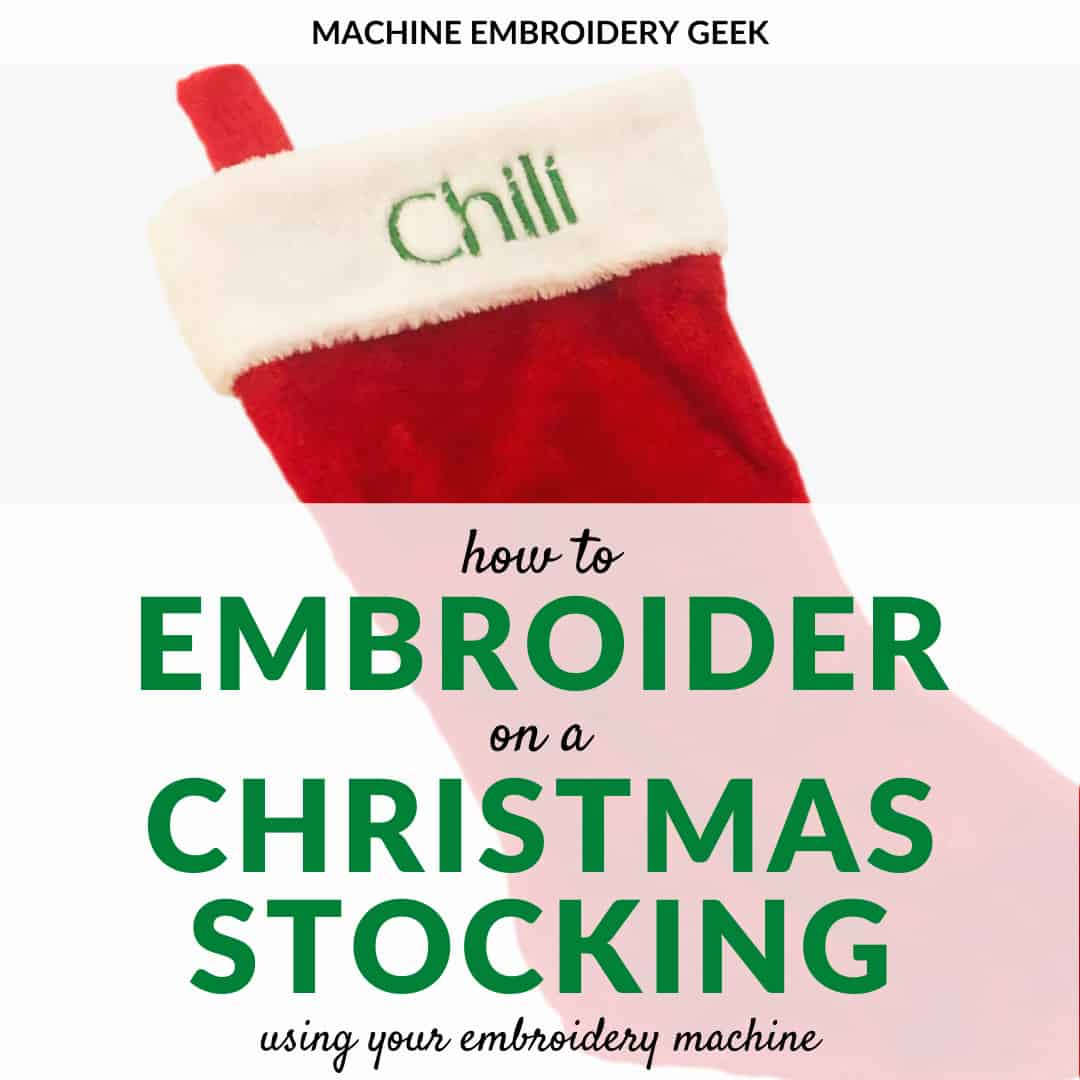 how to embroider on a Christmas stocking