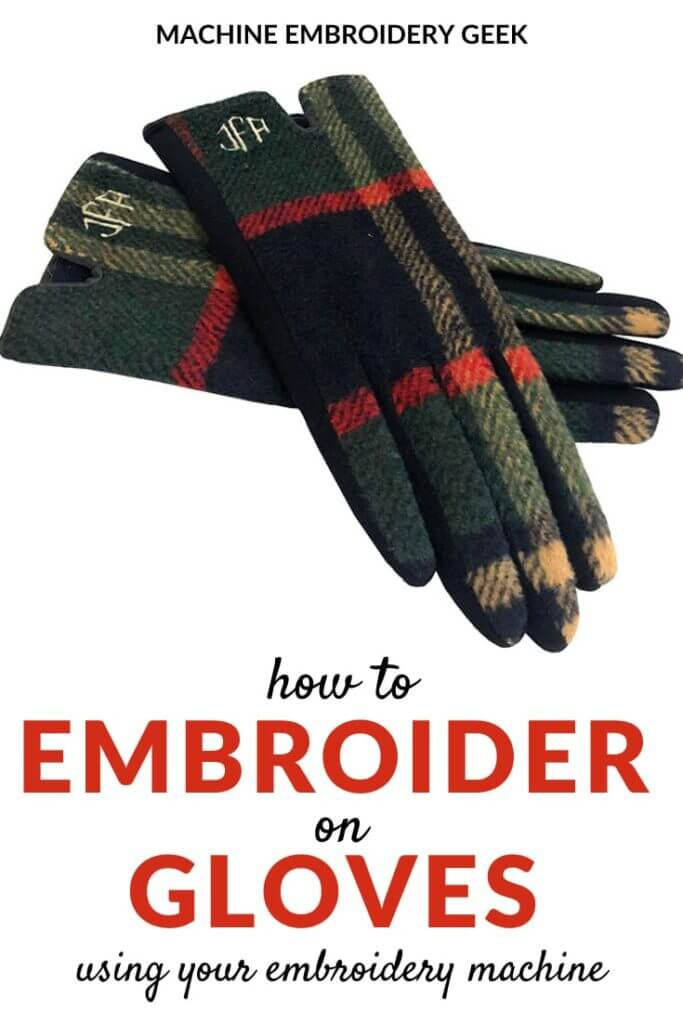 How to machine embroider on gloves