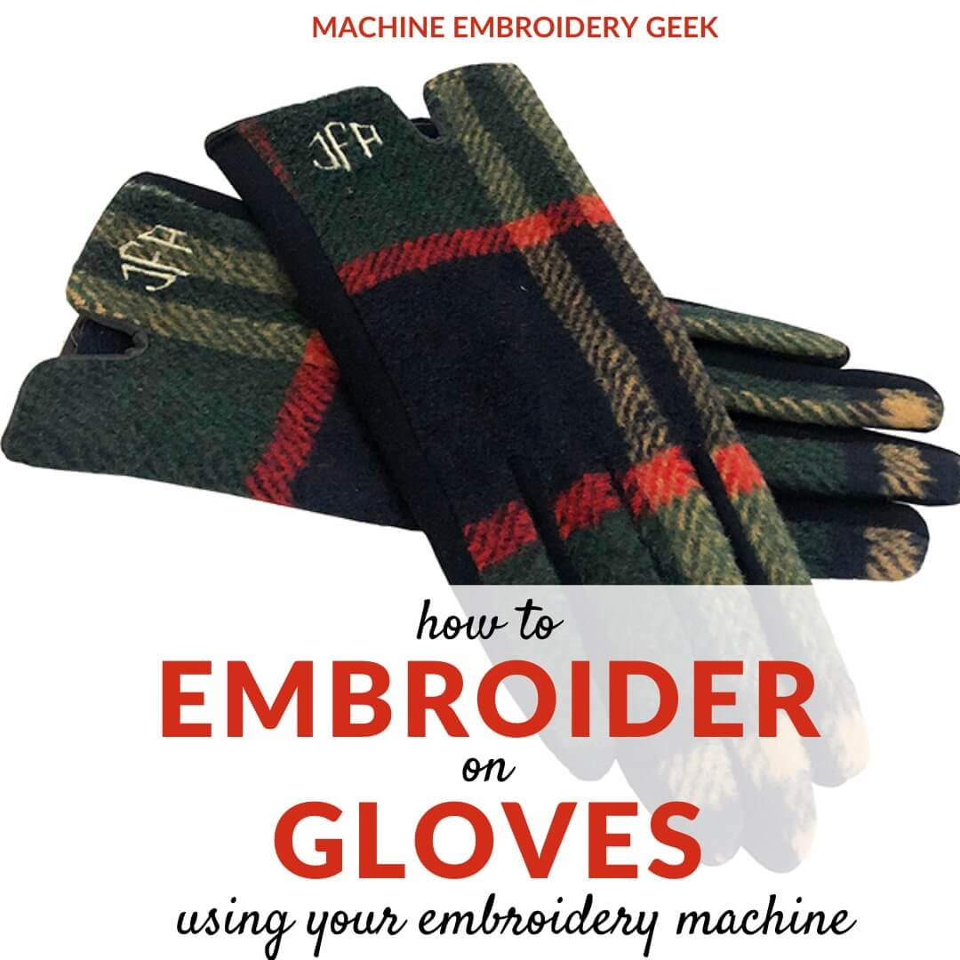 how to embroider on gloves