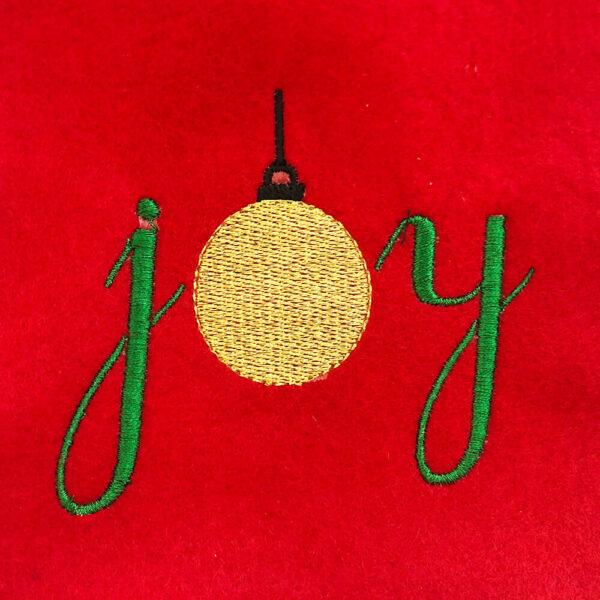 joy with ornament