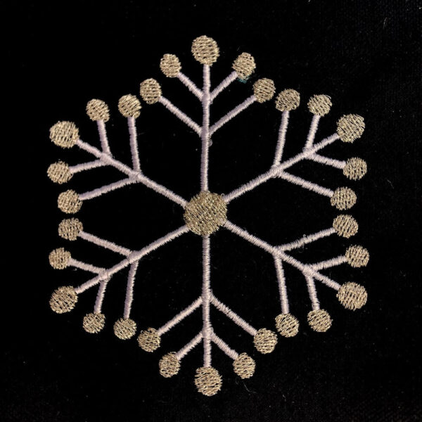 modern snowflake machine embroidery design
