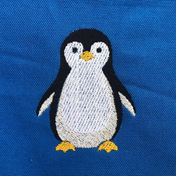 penguin machine embroidery design