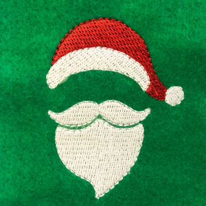 Santa face embroidery design