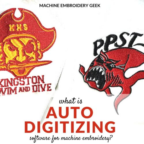 what is auto digitizing software for machine embroidery