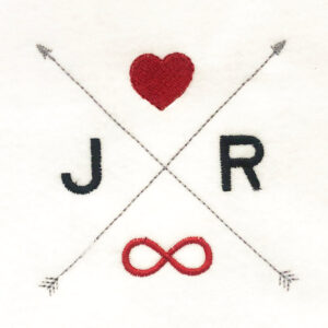 customizable arrows with heart and infinity sign