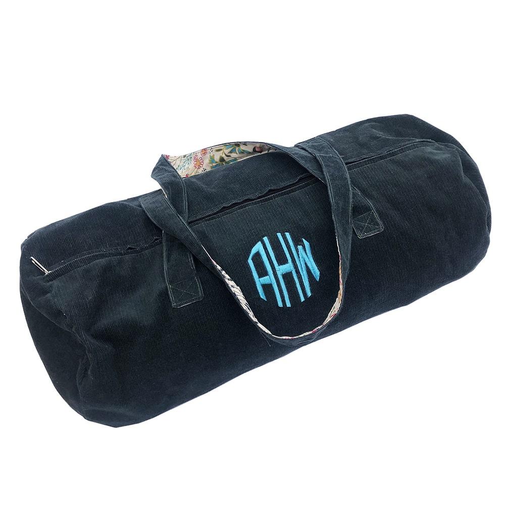 Monogrammed duffel bag done