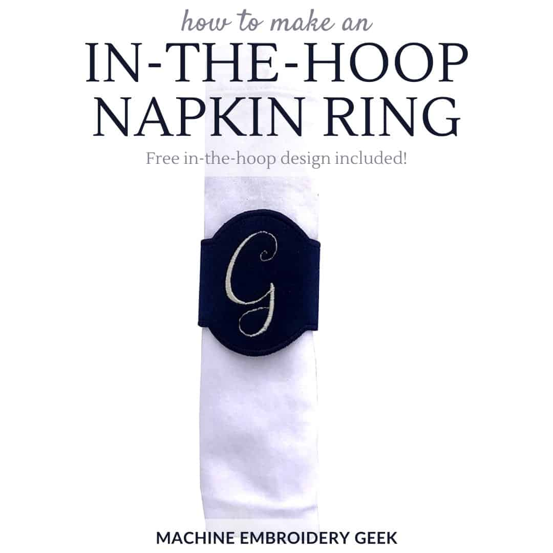 how to make an in-the-hoop napkin ring