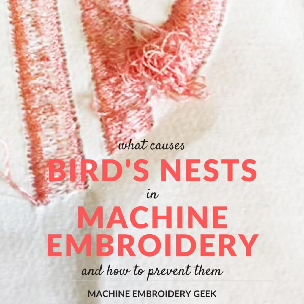 how to prevent bird nesting underneath embroidery