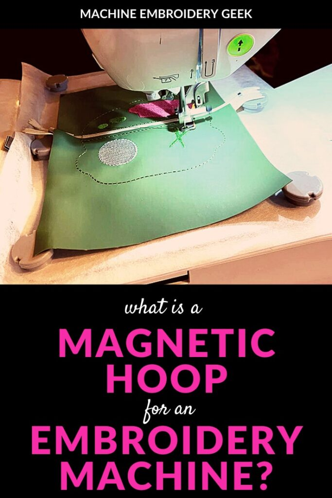 what is a magnetic embroidery hoop
