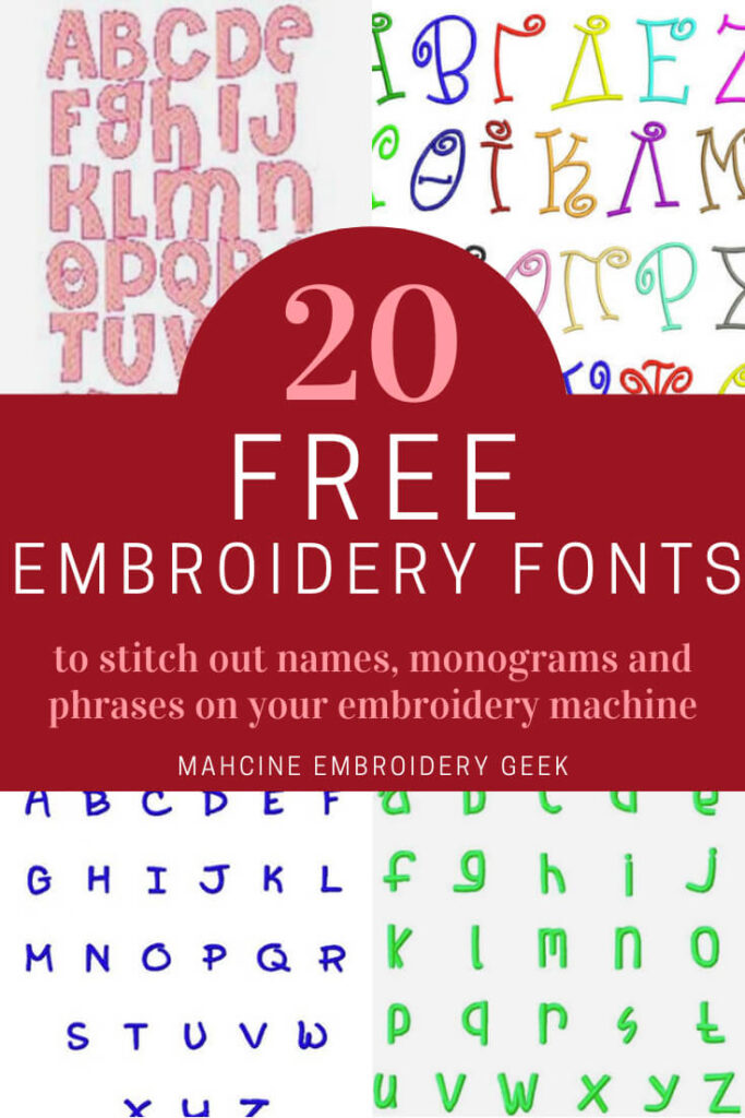 20 free embroidery fonts