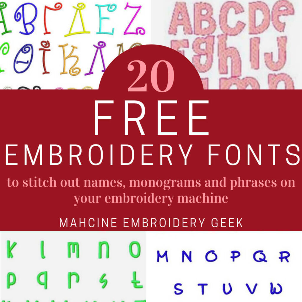 20 free embroidery designs