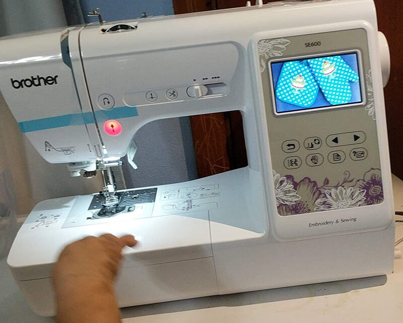 setting up the SE600 to machine embroider