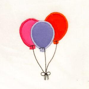 Balloons appliqué design