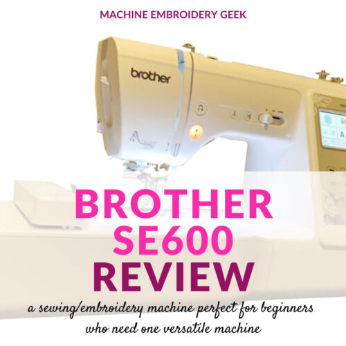 Brother SE600 Review