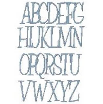 free Countryside font from Bunnycup embroidery