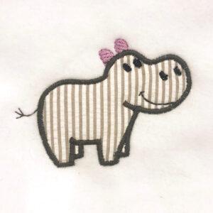 Hippo appliqué design