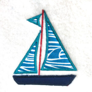 sailboat appliqué design