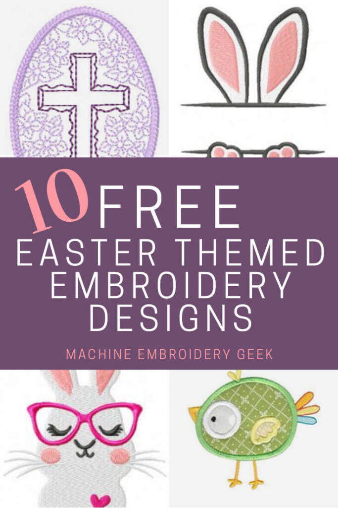 10 free Easter machine embroidery designs