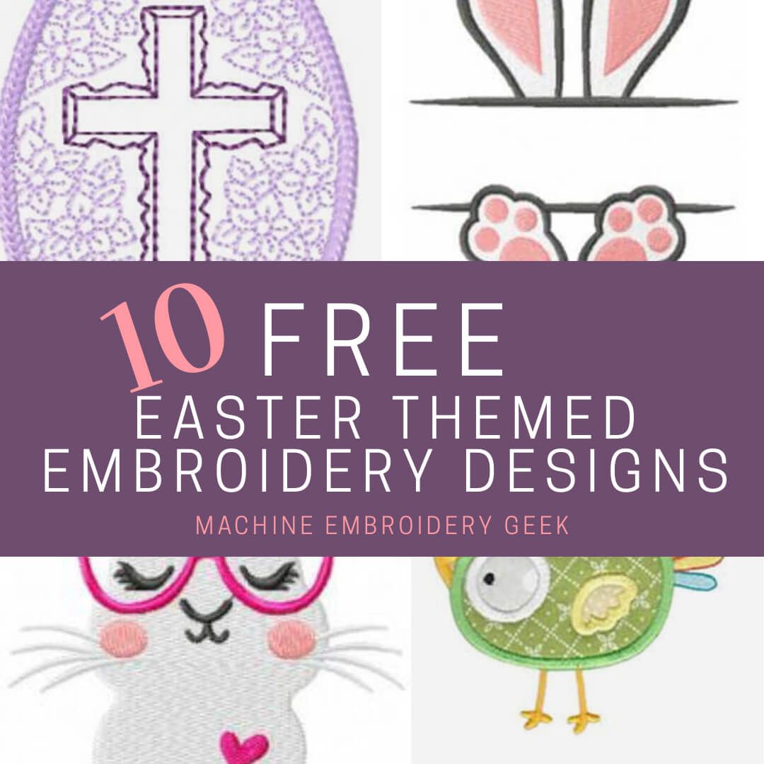 10 free Easter embroidery designs