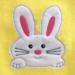 bunny raw edge appliqué