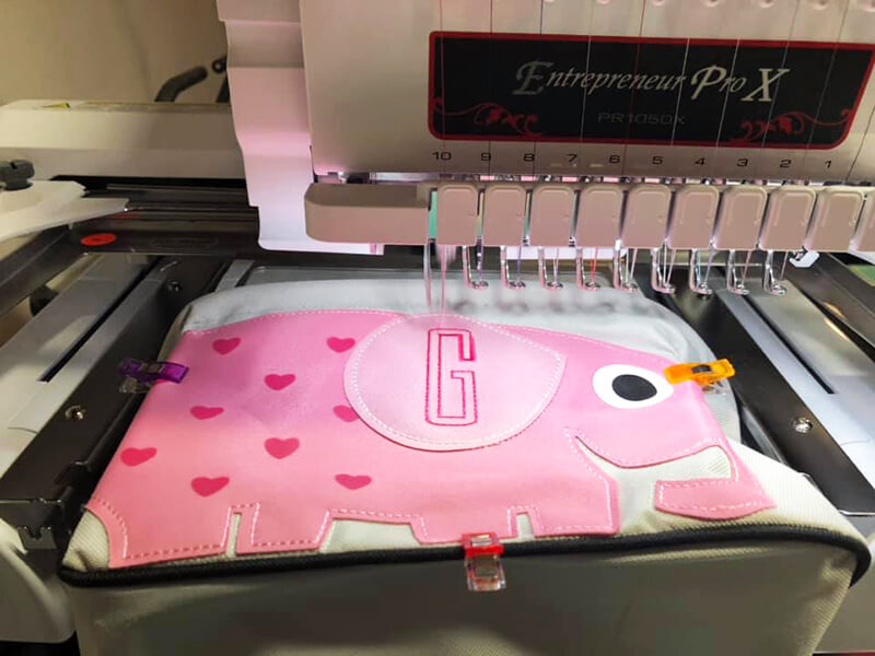 Using Fast Frames with a multi-needle machine