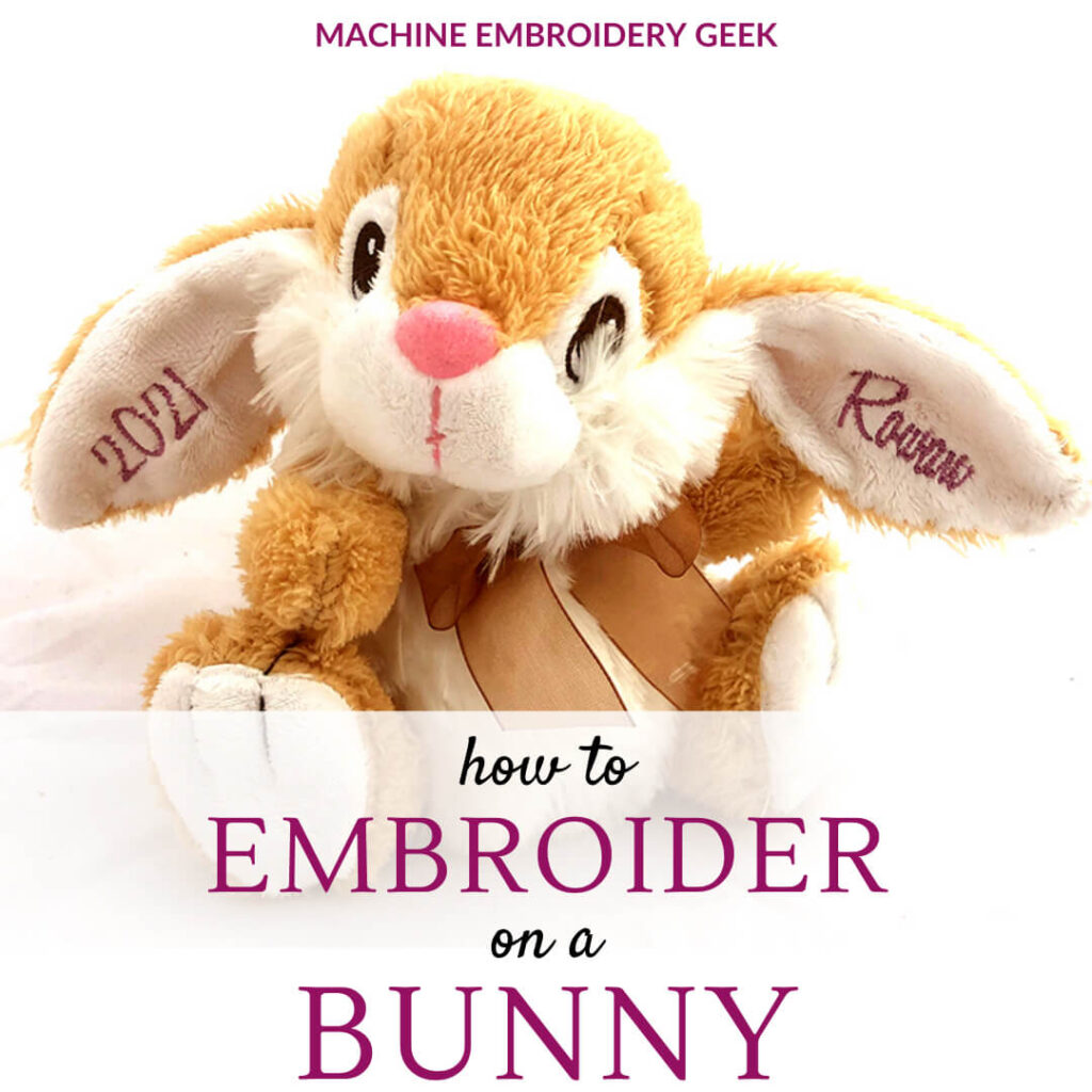 How to embroider on a bunny