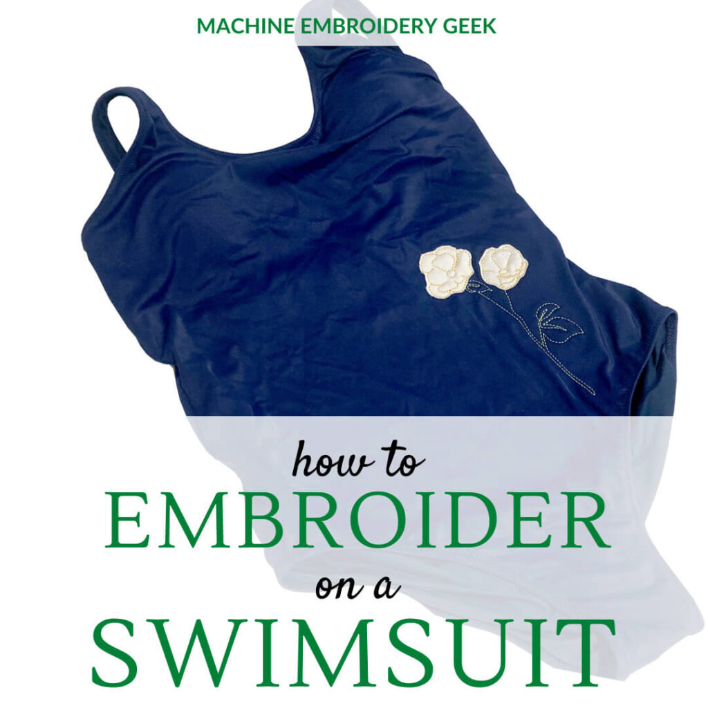 how to embroider on a swimsuit