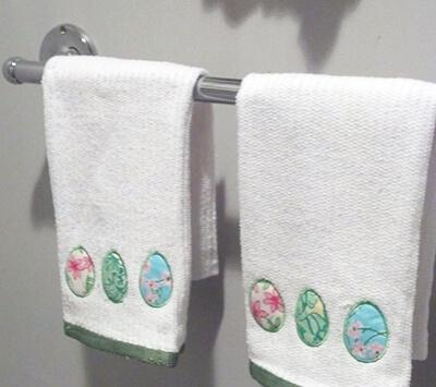 egg applique machine embroidery design