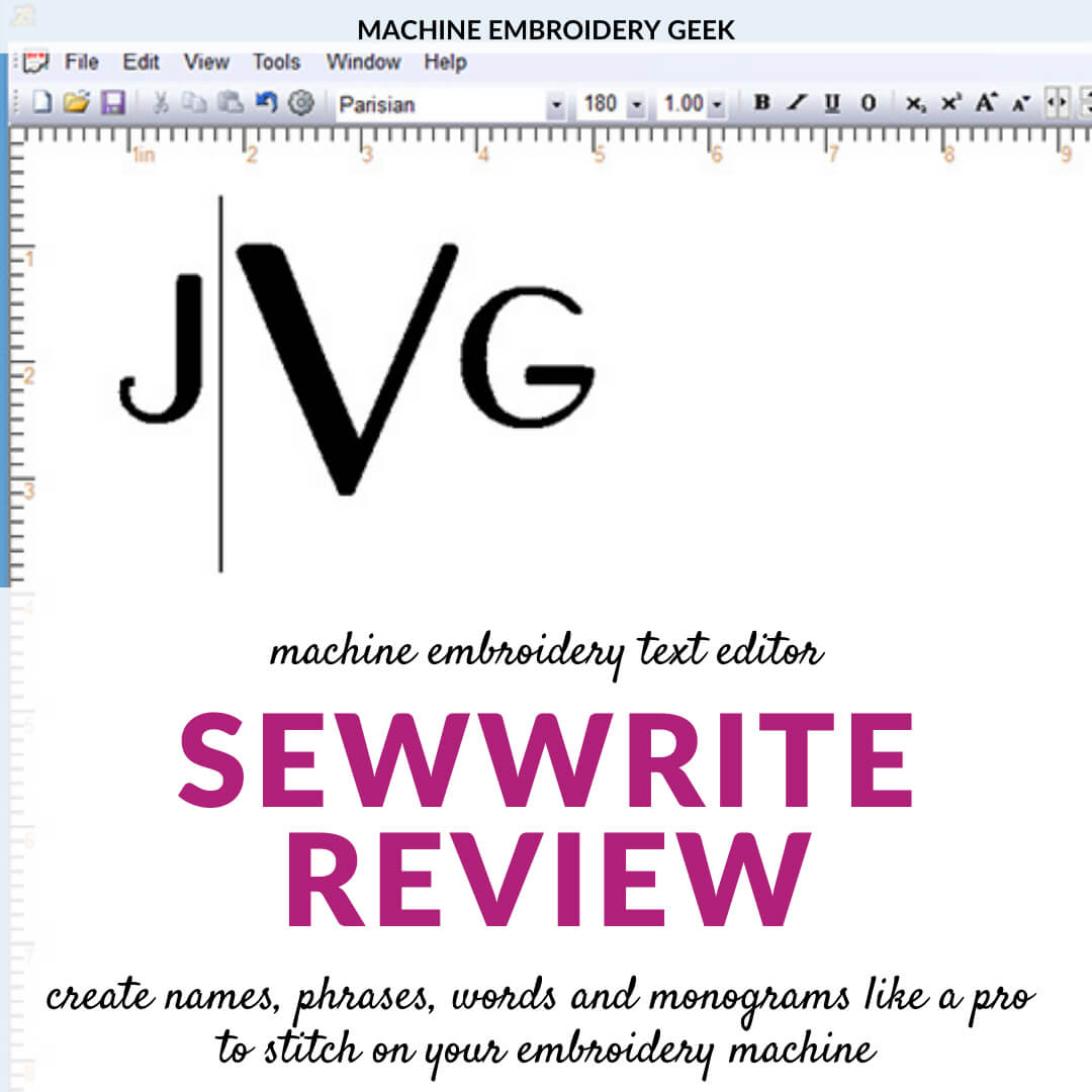 SewWrite review